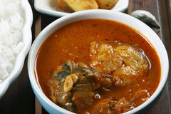 Fish Varuthuracha curry - Kerala Style fish curry Stock Photo