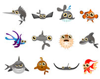 Fish vector. Cartoon illustration series 5 Royalty Free Stock Photography