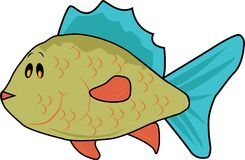 Fish Vector colored. Illustration fish carton vector great printing Royalty Free Stock Photo