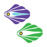 Fish cartoon illustration of abstract design. Vector Royalty Free Stock Images