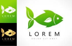 Fish vector. fins leaf. Logo design vector illustration Stock Images