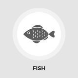Fish vector flat icon. Fish icon vector. Flat icon  on the white background. Editable EPS file. Vector illustration Stock Photography