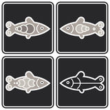 Fish - vector icon Royalty Free Stock Photography