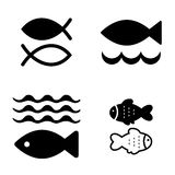 Fish Vector Icon Isolated. Set of Fish Vector Icon Isolated. Fishing or Seafood Template for Logo Design Stock Image