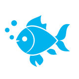 Fish vector icon Royalty Free Stock Photography