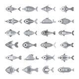Fish vector icon set Stock Photo
