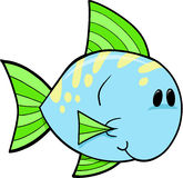Fish Vector Illustration. Cute Blue Fish Vector Illustration Stock Photo