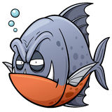 Fish. Vector illustration of angry fish cartoon Royalty Free Stock Photo