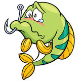 Fish. Vector illustration of fish with Fishing Hook Stock Images