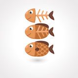 Fish vector. Illustration of  fish  on white background.vector Stock Photography