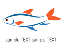 Fish. Vector image of an fish on white background Royalty Free Stock Photography