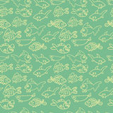 Fish. Vector seamless pattern. Endless texture can be used for wallpaper,printing on fabric, paper, scrapbooking Royalty Free Stock Image