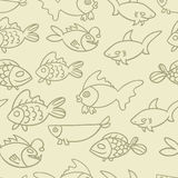 Fish. Vector seamless pattern. Endless texture can be used for wallpaper,printing on fabric, paper, scrapbooking Stock Photography