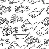 Fish. Vector seamless pattern. Endless texture can be used for wallpaper,printing on fabric, paper, scrapbooking Stock Photos