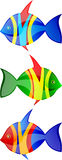 Fish vector  set Royalty Free Stock Photography