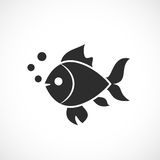 Fish vector silhouette icon. Illustration Stock Photo