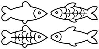 Fish - vector symbol Stock Image