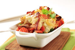 Fish and vegetable casserole royalty free stock photography