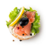 Fish vegetable sandwich Royalty Free Stock Photography