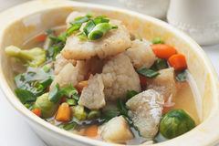Fish and vegetable soup Royalty Free Stock Photos