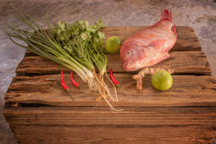 Fish and vegetable Royalty Free Stock Images