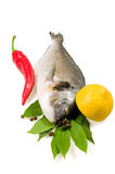 Fish and vegetables. Royalty Free Stock Photography