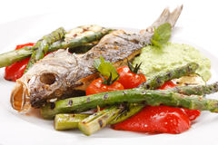 Fish with vegetables Royalty Free Stock Image
