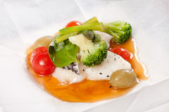 Fish with vegetables Stock Photography