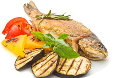 Fish with vegetables Royalty Free Stock Photo
