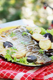 Fish with vegetables Stock Image