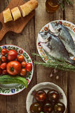 Fish and vegetables Royalty Free Stock Photography