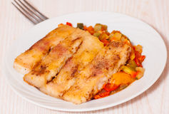Fish with vegetables Royalty Free Stock Photos