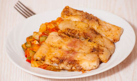 Fish with vegetables Royalty Free Stock Photography