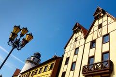 Fish village in Kaliningrad city Royalty Free Stock Photos
