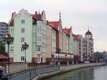 Fish village in Kaliningrad stock photo