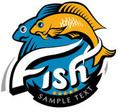Fish vintage icon. graphic sea food illustration Stock Photography