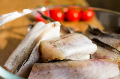 Fish, Walleye pollock, Alaska pollock. Fresh, raw fish - Walleye pollock, Alaska pollock stock photos