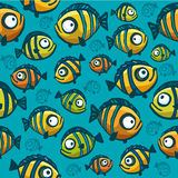 Fish wallpaper - seamless pattern Stock Images