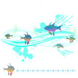 Fish in the waves Royalty Free Stock Photography