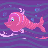 Fish on waves Royalty Free Stock Photography