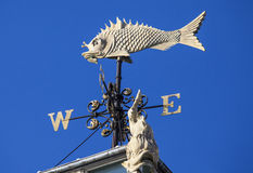 Fish Weather Vane at Old Billingsgate Market in London Royalty Free Stock Images