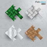 Fish weave crafts thailand Royalty Free Stock Photos