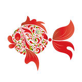 Fish. Fish on a white background. Vector Stock Images