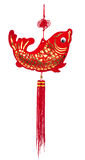 Fish wind chime the symbol wealth fengshui Royalty Free Stock Photography