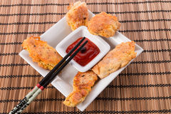 Fish With Chilli Sauce Stock Photo