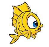 Fish yellow cartoon Royalty Free Stock Photography