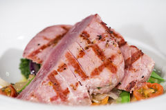 Fish - Yellowfin Tuna Steak Stock Images