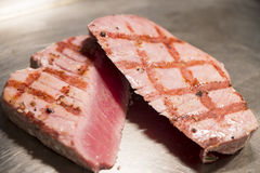 Fish - Yellowfin Tuna Steak Royalty Free Stock Photo