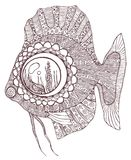 Fish in zentangle style Stock Photos