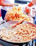 Fishball街道食物 免版税库存照片